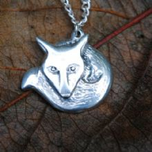 Fox pendant necklace  P61